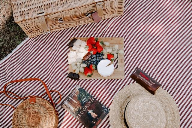 海外風のピクニックシート