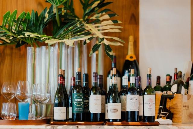 いろいろな種類のワイン